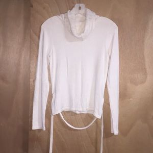 Banana Republic Stretch White Turtleneck Top